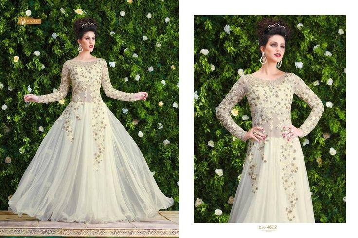 White Gown Wedding Party Indian Bollywood Designer Ethnic Salwar Kameez 1785…