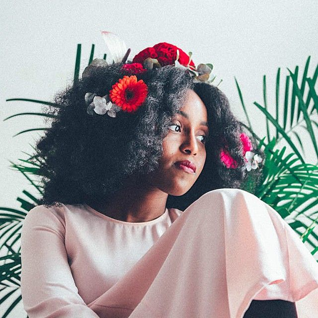 MusesUniform @musesuniform. Natural hair and flowers. Afro textured hair. Adorn your natural hair.