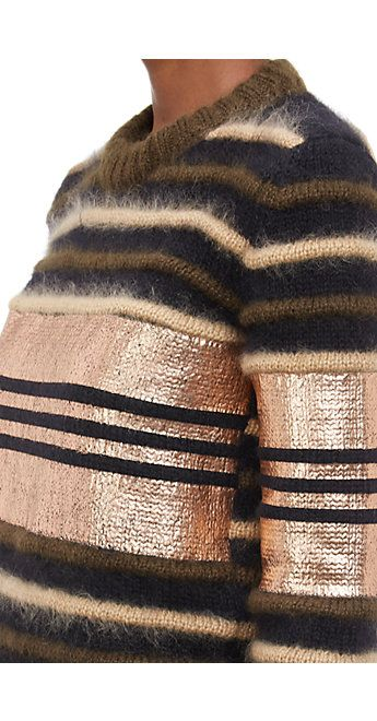 Givenchy metallic stripe pullover.
