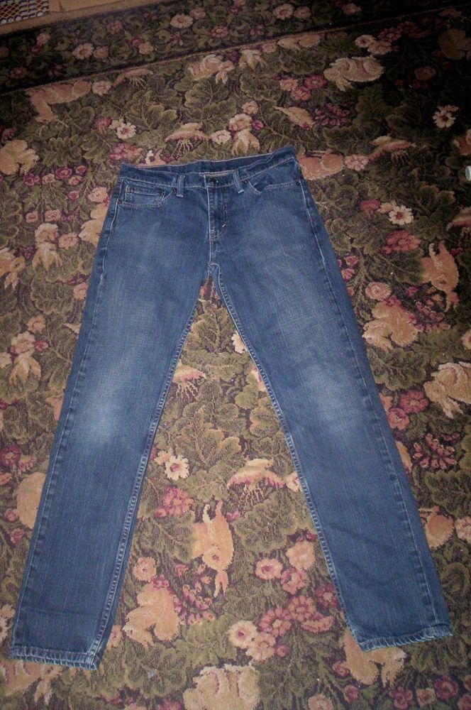 Men's LEVI'S 511 Slim Fit 32 X 34 Distressed Jeans b #Levis #SlimSkinny