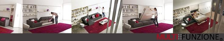 Cama, sofá y biblioteca Swing, ideal para crear espacios más cómodos!