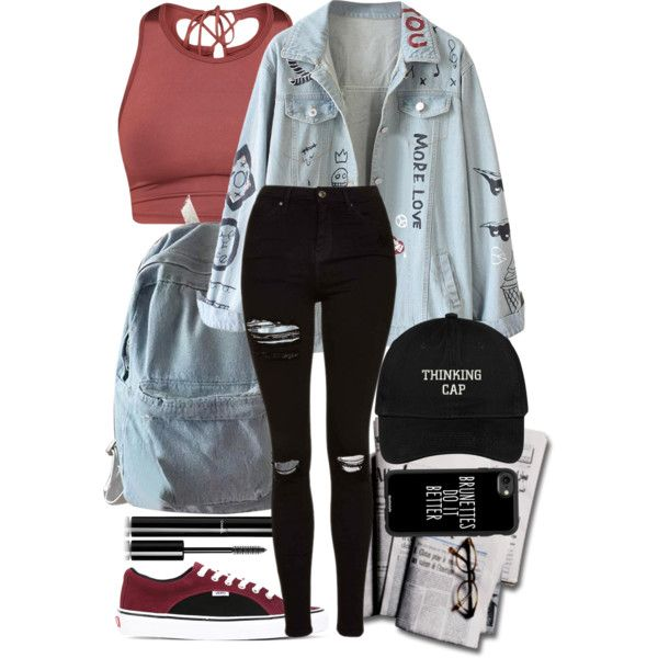 A fashion look from May 2017 featuring Topshop jeans, Vans sneakers and WithChic backpacks. Browse and shop related looks.