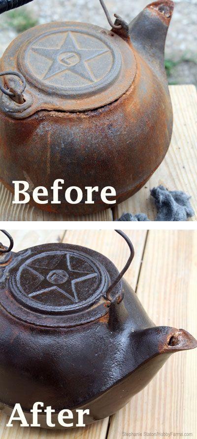 Como Reformar panelas de ferro fundido -