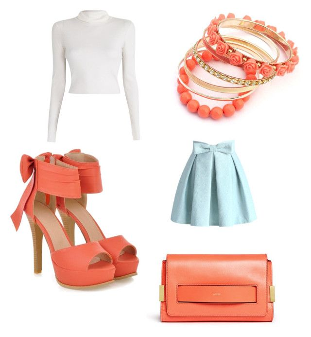 """""""It's time to wear spring"""" by blair1969w on Polyvore featuring moda, Chicwish, A.L.C., JY Shoes, Chloé e Ruby Rocks"""
