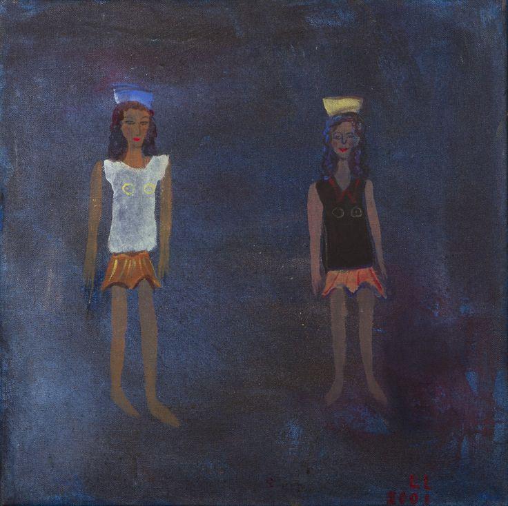 Leena Luostarinen: Naiset, 2001, öljy, 60x60 cm - Hagelstam A130