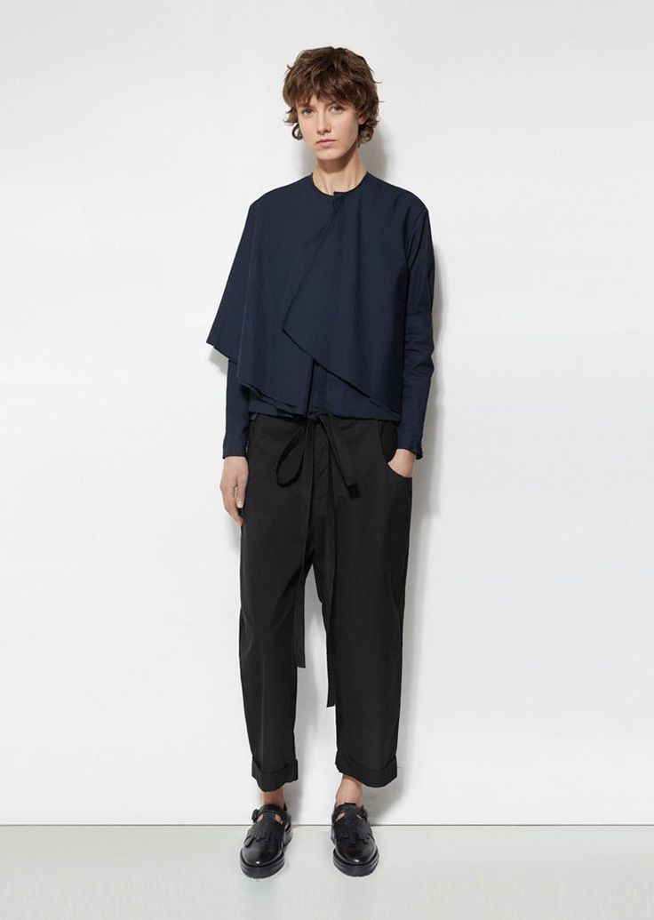 Cotton Crop Trousers by Phoebe English - La GarÁonne – La Garçonne