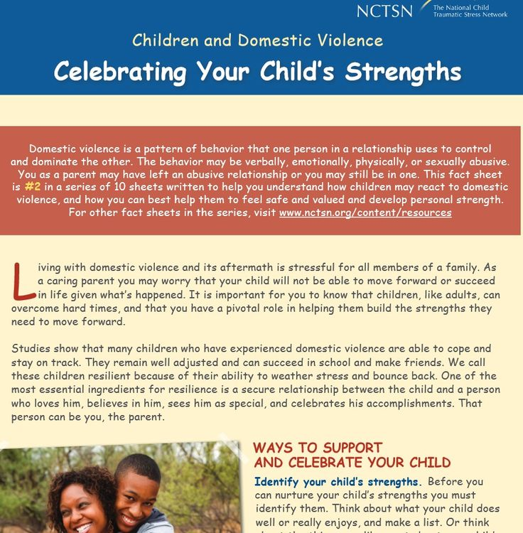 Children and Domestic Violence: Celebrating Your Child's Strengths (2013)