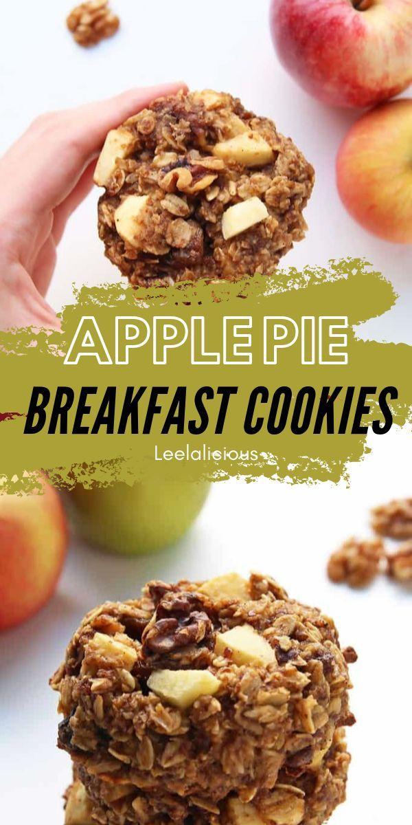 Healthy Apple Pie Breakfast Cookies Leelalicious Breakfast Cookies Breakfast Cookies Healthy Apple Oatmeal Cookies