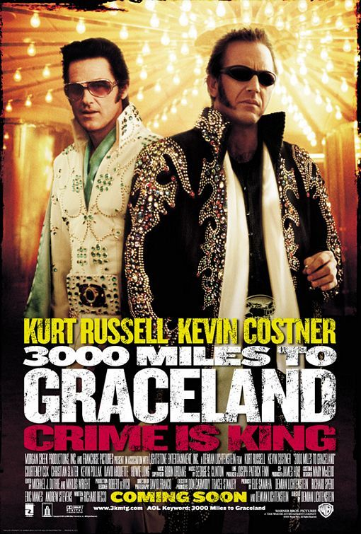 "3000 Miles to Graceland  LOVE the song ""Such A Night"" by Elvis!  My other favorite Elvis song!  A-N-D....Kurt Russell is the ONLY person to ever be in a movie with Elvis ""It Happened At The World's Fair"", play Elvis in a movie ""Elvis"", and play Elvis' son in a movie ""3000 Miles To Graceland""!"