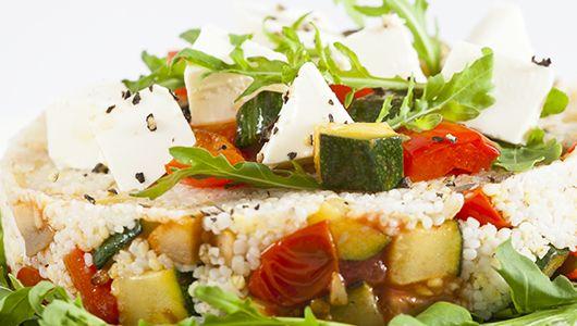 Sałatka z mixem kasz, grillowanymi warzywami i twarogiem - superodżywczy mix kasz zmieszany z wartościowymi warzywami i sycącym twarogiem  #healthy #food #econdimenta #healthyfood