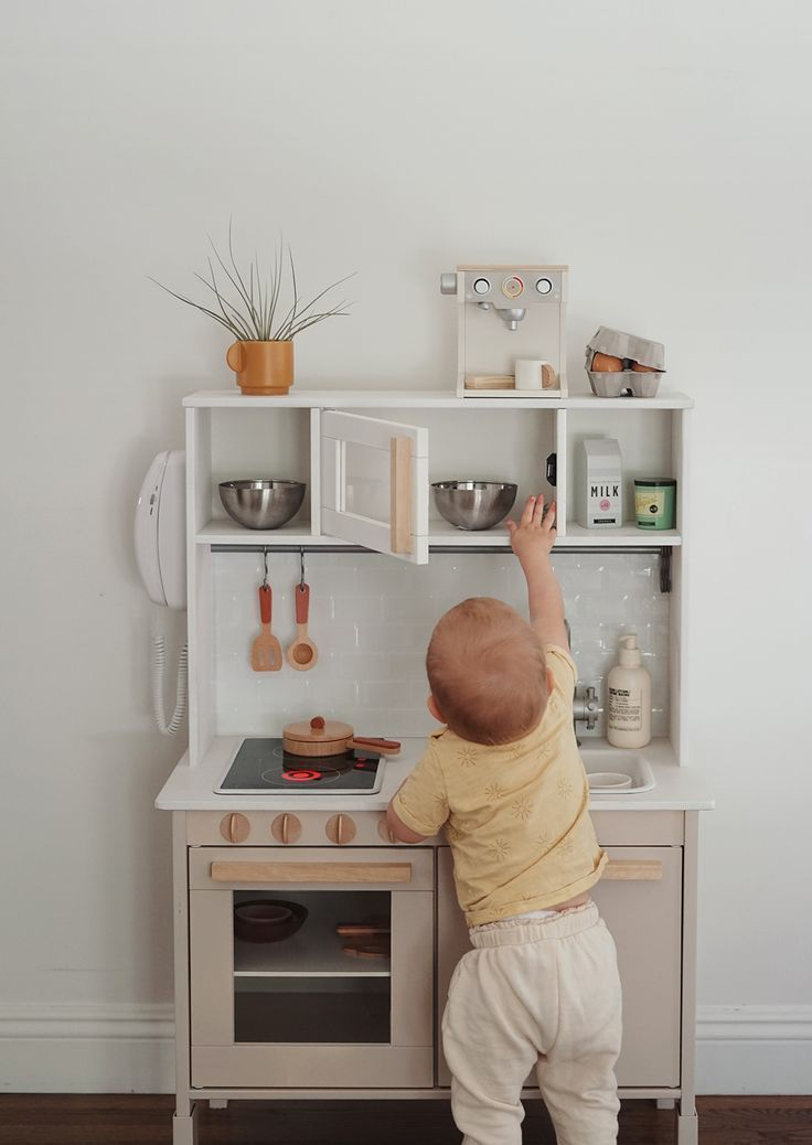 Modern Ikea Play Kitchen Hack Almost Makes Perfect So Excited To Share Arlo S Play Kitchen I Honestly Don T Think I Ve E In 2020 Ikea Spielkuche Ikea Kuchenideen