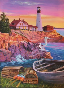 Nice, affordable, quality puzzles by Jack Pine. Made in USA. $10.95 for 1000 piece jigsaw puzzles.