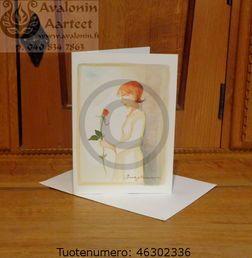 Minna Immonen confirmation card (first communion) / Minna Immosen rippikortti (konfirmaatiokortti)