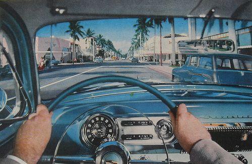 1950s vintage chevrolet interior color photo automobile classic car by christian montone via. Black Bedroom Furniture Sets. Home Design Ideas