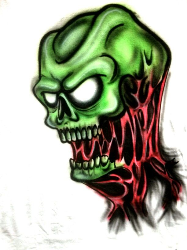 Airbrushed zombie