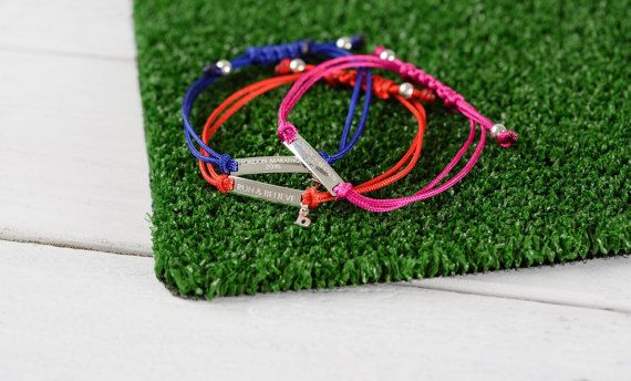 Design your own run bracelet - your event name, your personal best time, your bib number & more! Add an initial charm for even more personalisation.