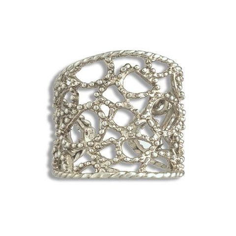 Handmade Silver Plated Bronze Ring