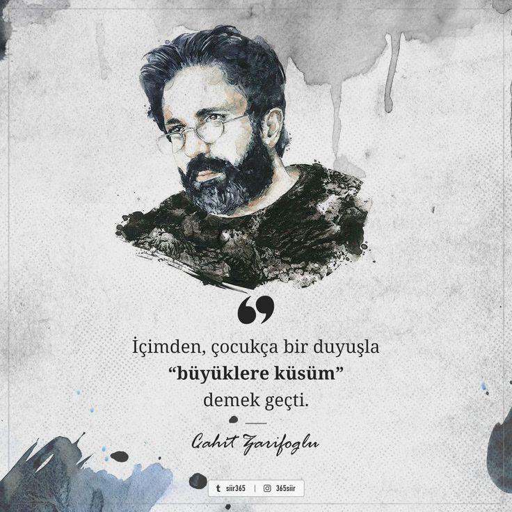 """İçimden, çocukça bir duyuşla """"büyüklere küsüm"""" demek geçti.   - Cahit Zarifoğlu   #sözler #anlamlısözler #güzelsözler #manalısözler #özlüsözler #alıntı #alıntılar #alıntıdır #alıntısözler #şiir #edebiyat"""