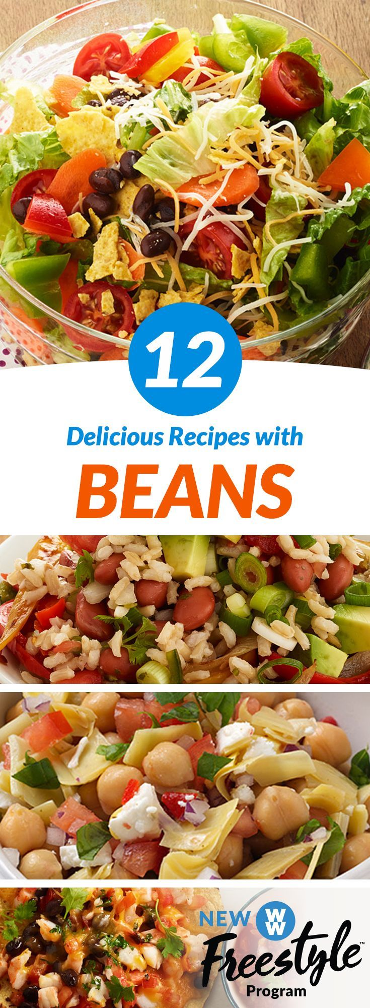 12 Bean Recipes under 3 SmartPoints   These delicious bean filled dishes are about to be your new go-to meals & snacks– especially now that legumes are 0 SmartPoints on WW Freestyle!