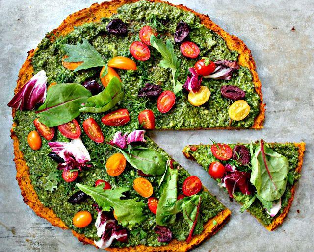 Gluten free, grain free, and vegan pizza! P.S. It also tastes super yummy!