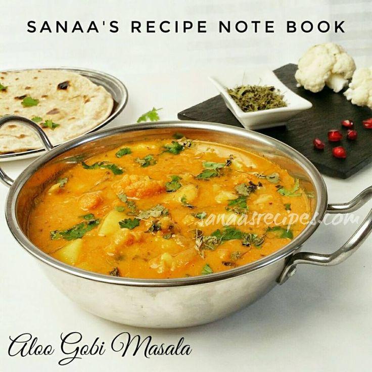 Aloo Gobi Masala/ Potato And Cauliflower With Gravy