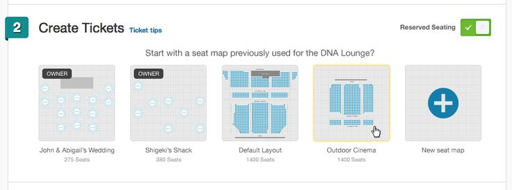 Eventbrite lancia il Seat Designer: il tool che permette di disegnare la mappa dei posti asedere