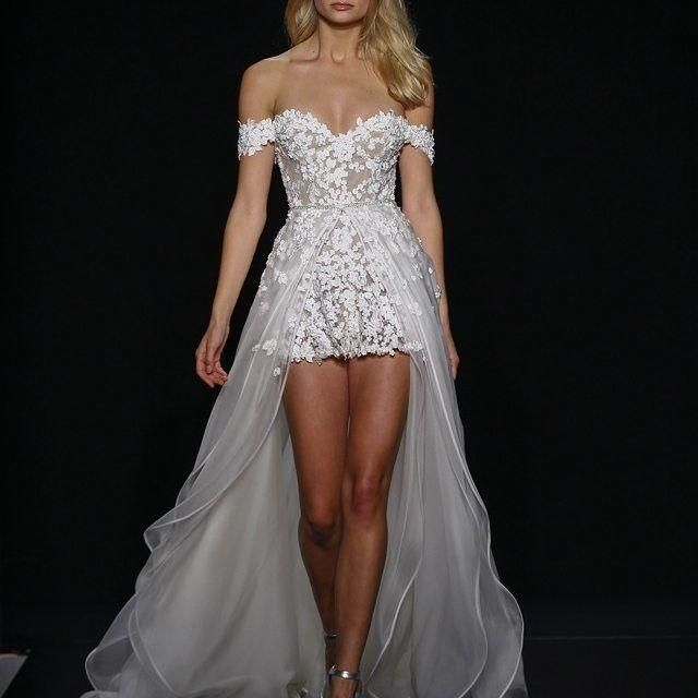 Wedding Dresses Websites Overskirts Lace Wedding Dresses 2016 Chic Mini Short Beach Bridal Gowns Off Shoulder Appliques Tulle Sweep Train Vestido De Noiva Wedding Dresses With Lace Back From Marrysa, $141.42  Dhgate.Com