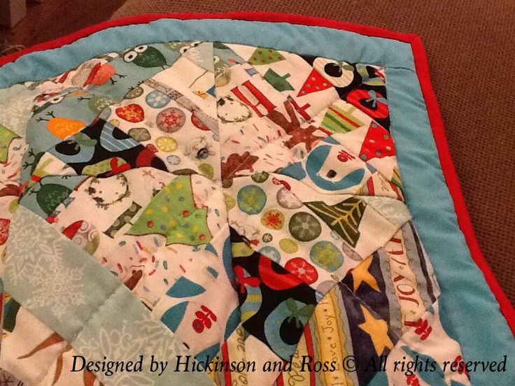 Front of Poppy's Christmas Quilt