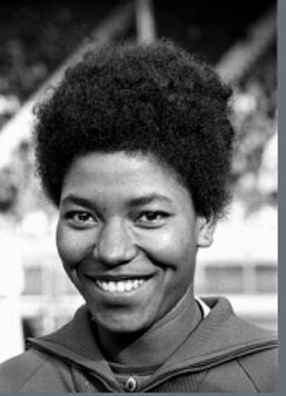 Marlène Canguio est née à Sainte-Rose, en 1942 Elle devient ainsi la première guadeloupéenne en équipe de Fr a n c e (1961).  Au niveau international, en 1962, à Belgrade, elle est la première femme noire à participer à un championnat d'Europe d'athlétisme. En 1963, elle est sélectionnée aux Jeux de l'amitié de Dakar.  En 1964, elle est sélectionnée pour les Jeux olympiques de Tokyo. Elle finit 6ème au 80 m haies de la deuxième série et finaliste au 4 x 100 m.