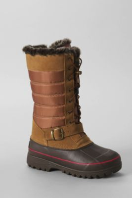 Women's Hillary Tall Snow Boots from Lands' End/ Black color