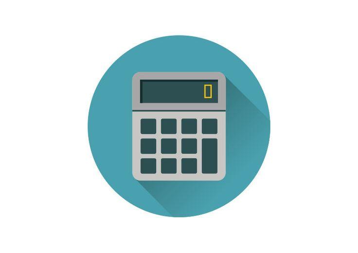 Flat Calculator Vector Icon