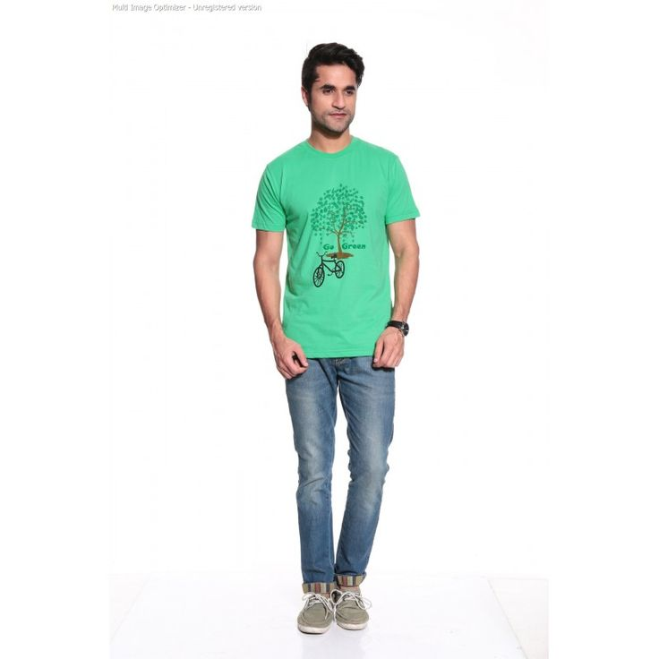 Posh 7 White & Green combo of 2 T Shirt  http://goo.gl/xgKmdy