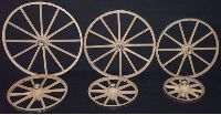 Amish Country Hickory Bent Wooden Wagon Wheel - 10 Inch - 12 Inch - 14 Inch - 16 Inch - 18 Inch - 20 Inch