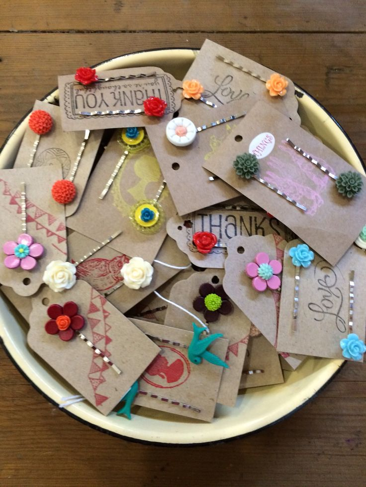 Bobby pins all handmade from Things.