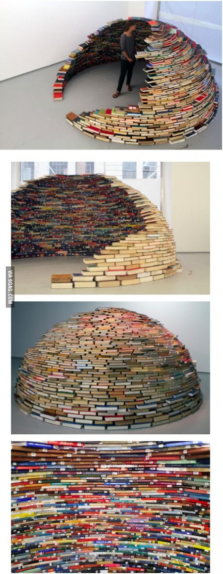 Next time, instead of a sheet fort how about a book igloo?
