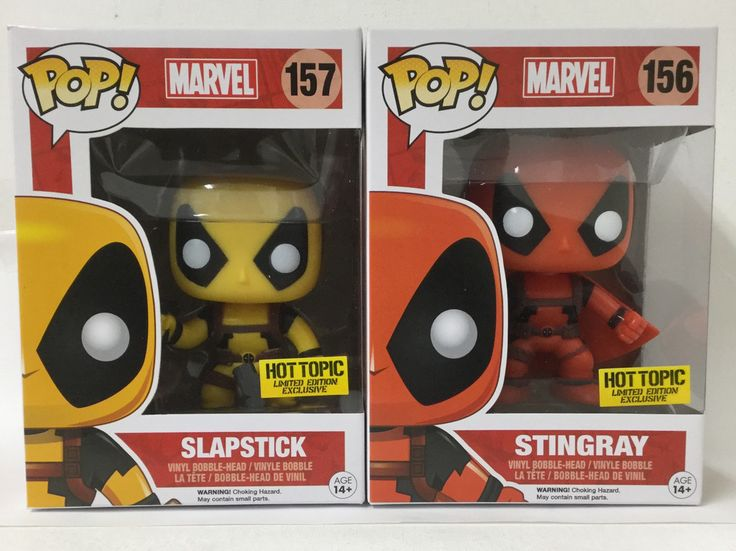 Funko Pop Store Exclusive Marvel Stingray & Slapstick Vinyl Bobble Head