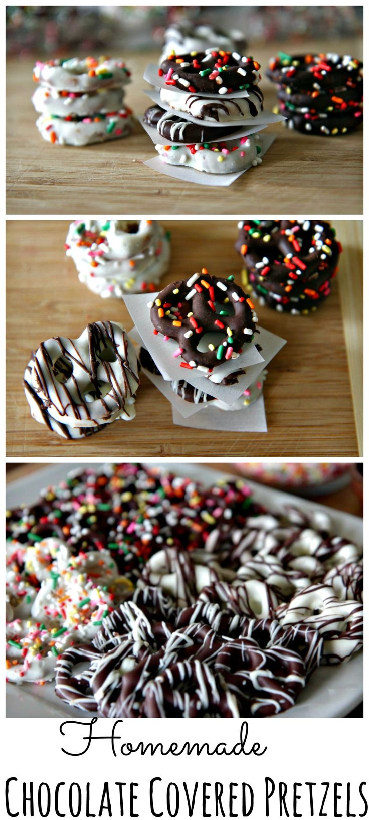 #Homemade Chocolate Covered #Pretzels - great to make with your kids! #BacktoschoolFun