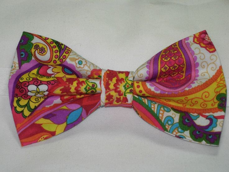 Self tie bow tie - Artistic pink & purple floral pattern Notch c1tpM