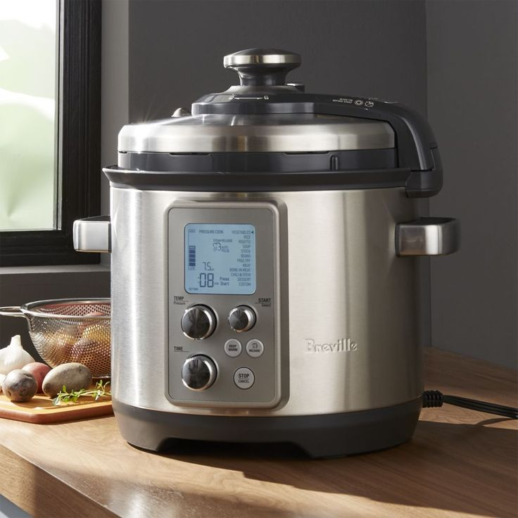 Breville ® Fast Slow Pro Pressure Cooker - Crate and Barrel