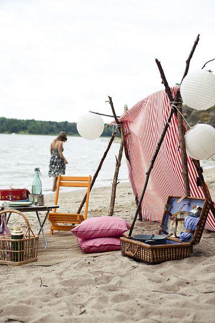 Summer picnic at the beach