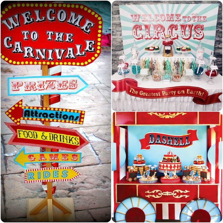 12 Fun Circus Carnival Party Games: Carnival / Fair / Circus Themed Decorations