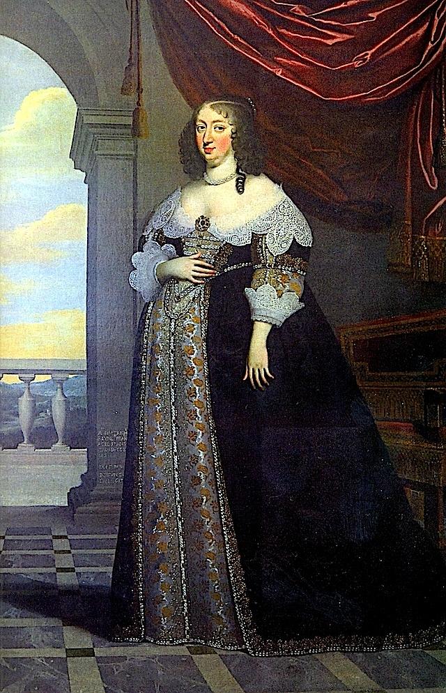 1638 Anne d'Autriche, infante d'Espagne, reine de France, enceinte de 8 mois du futur Louis XIV par Charles Beaubrun