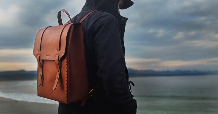 The Houck. Vegetable tanned leather bacpack by Bark and Mill .