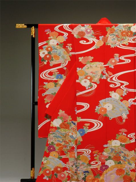 Japanese Yuzen kimono.
