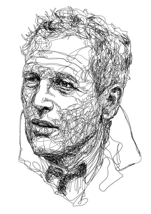 Line Drawing By Famous Artists : Best continuous line portraits images on pinterest