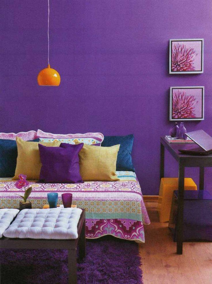Casa da Rô: Lilás, violeta e roxo na decoração