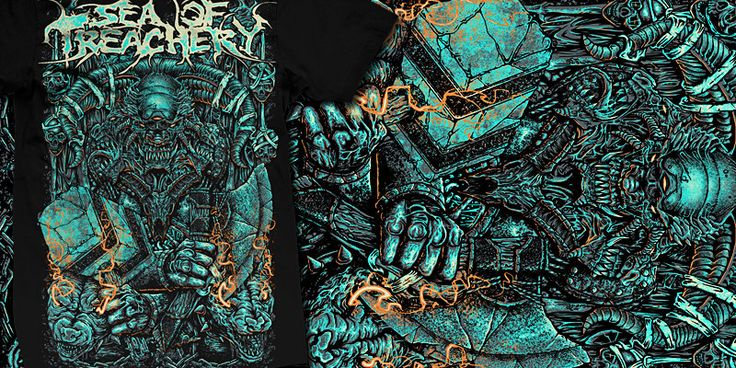 """""""Unblessing"""" t-shirt design by burntilldead"""
