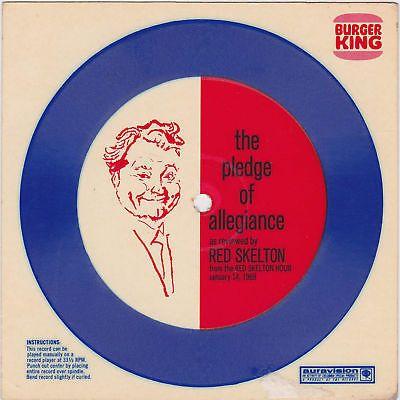 RED SKELTON BURGER KING RECORD PLEDGE OF ALLEGIANCE