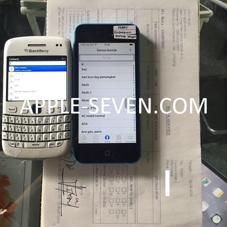 iPhone 5C pindah kontak telepon atas nama Bapak Febry | Apple Pontianak