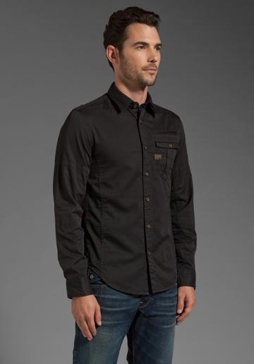 G-STAR Craft Long Sleeve Shirt in Black
